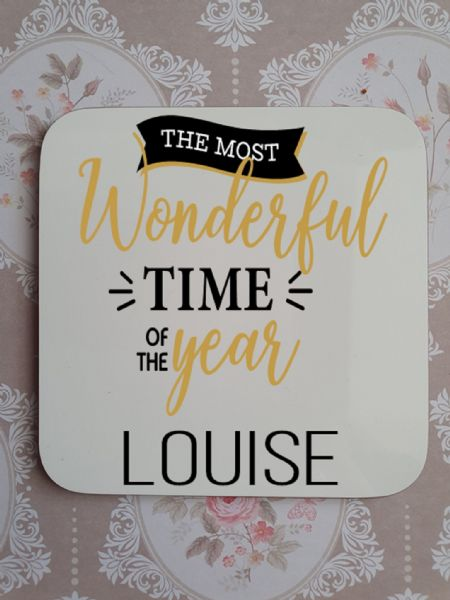 The Most Wonderful Time Personalised Coaster
